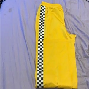 FOREVER 21 yellow checker pants